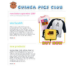 Guinea Pigs Club September 2007 Newsletter