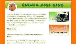 Guinea Pigs Club Birthday Newsletter